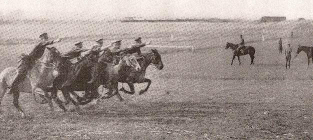 cavalry charge old photo