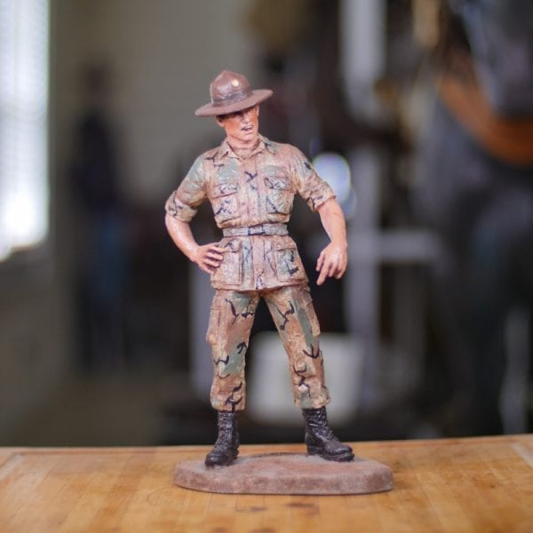 Hand-Painted Army Drill Sergeant Front View
