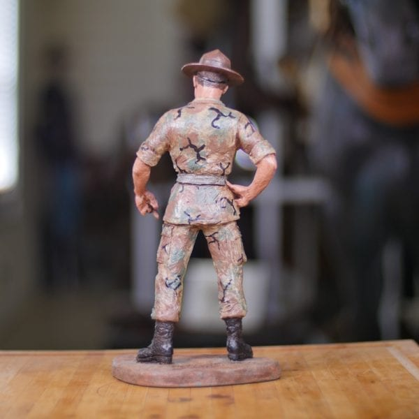 Hand-Painted Army Drill Sergeant Back View