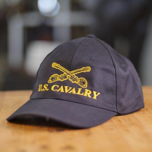 Black Baseball Cap With U.S. Cavalry Logo
