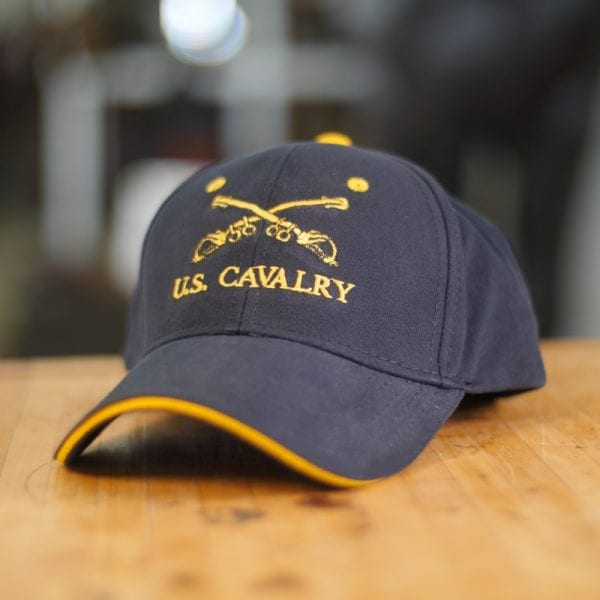 Black Baseball Cap With Gold Button on Top