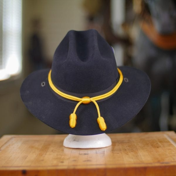 Black Stetson Hat with golden cord