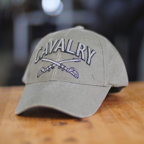 Green U.S. Cavalry Baseball Cap