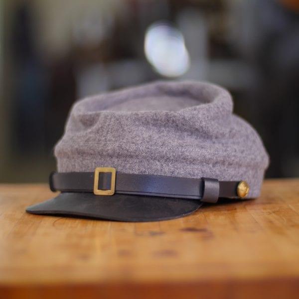 Grey Confederate Kepi Hat