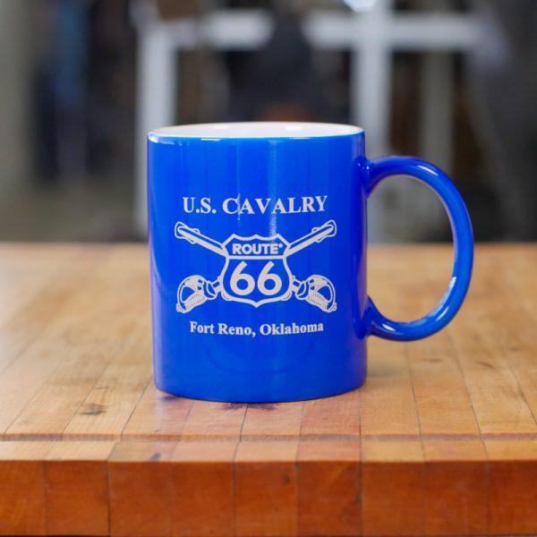 Blue USCA Route 66 Fort Reno Mug