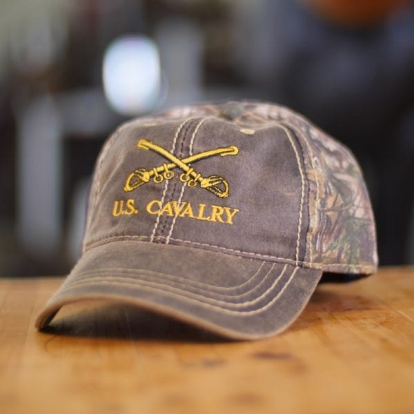 Camo U.S. Cavalry Baseball Cap
