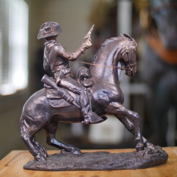"""14 X 15"""" Old Trooper Statue (Large) Back View"""