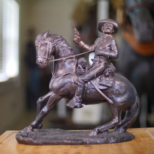 """14 X 15"""" Old Trooper Statue (Large) Front View"""