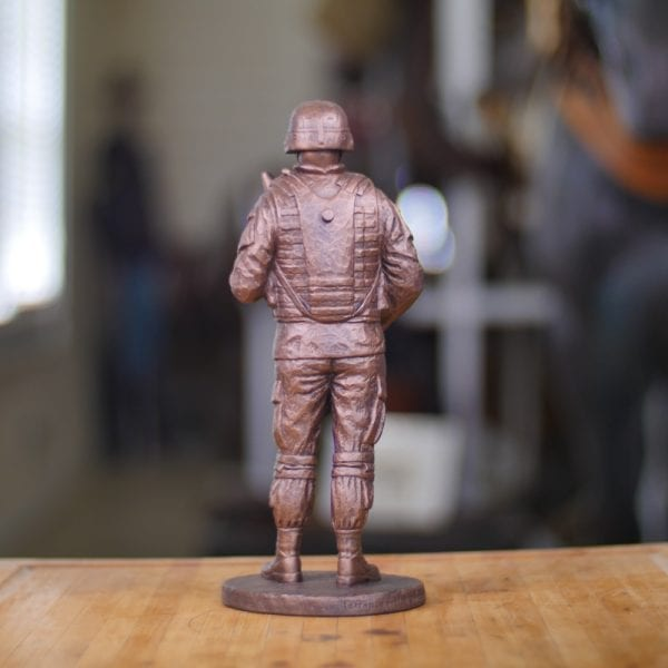Cannoneer Statue (Small) Back View