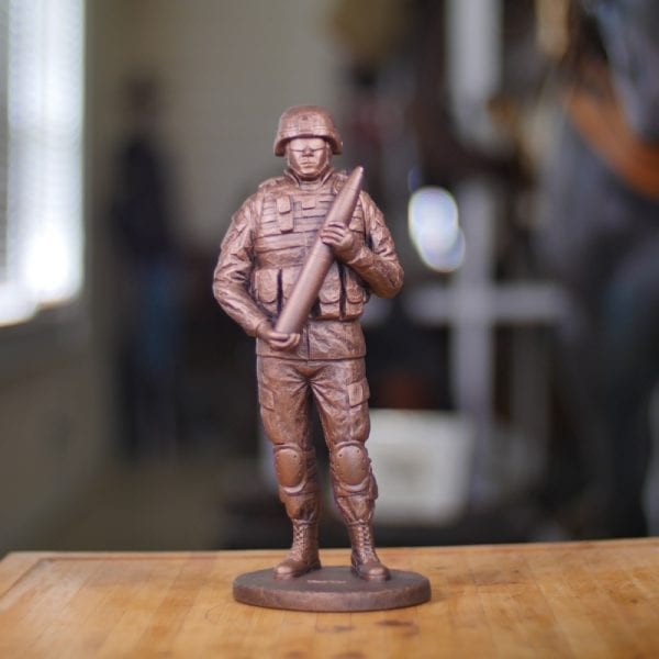 Cannoneer Statue (Small) Front View