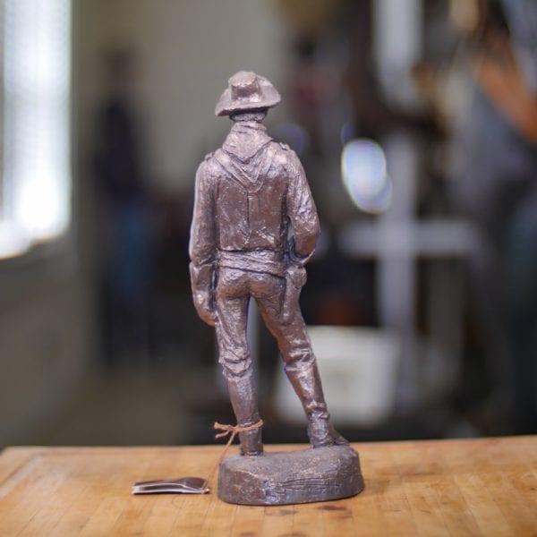 Cavalryman Captain - Bronze Statue Back View