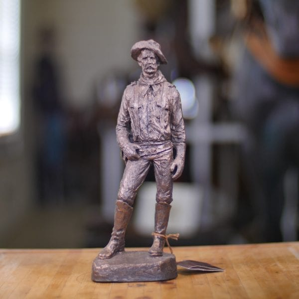 Cavalryman Captain - Bronze Statue Front View