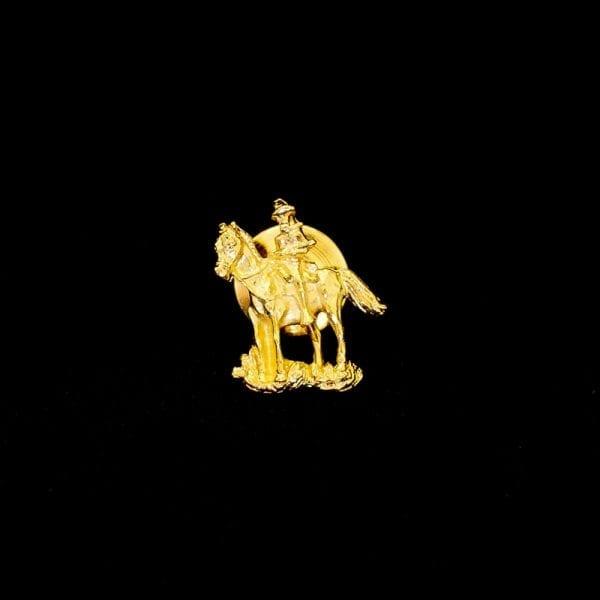 Gold Bill Tie Tack Horse Pin