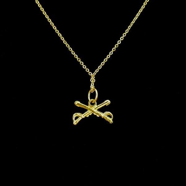 Crossed Saber Necklace