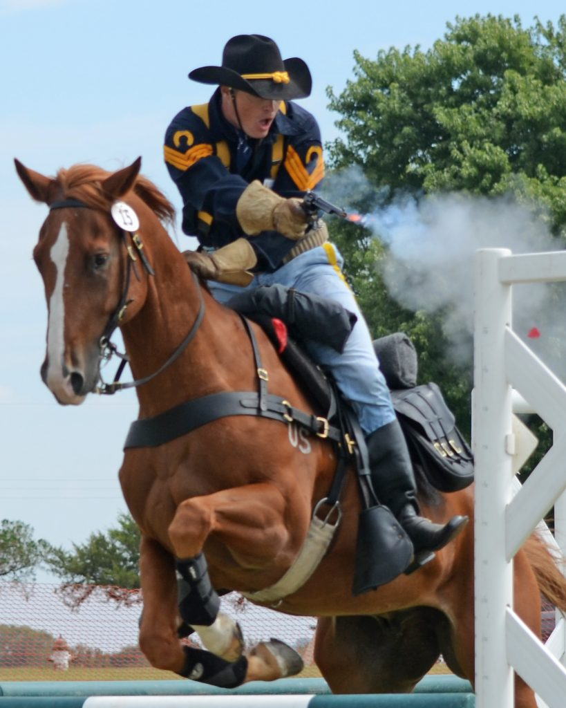 2015 National Cavalry Competition, Ft Reno, OK, Mounted Pistol Competition