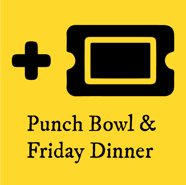 Plus One Ticket Icon for Punch Bowl & Friday Dinner