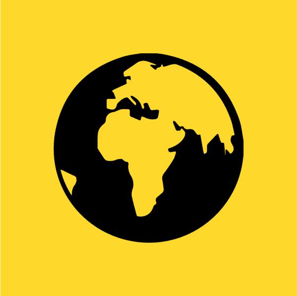 Overseas membership icon of the globe
