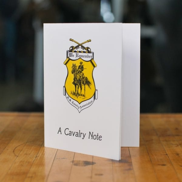 a cavalry note stationary